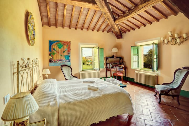 Double Room, Stunning Views over the Tuscan Hills