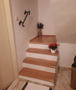 These steps are from the ground floor to the first floor where the rooms and balconyes are