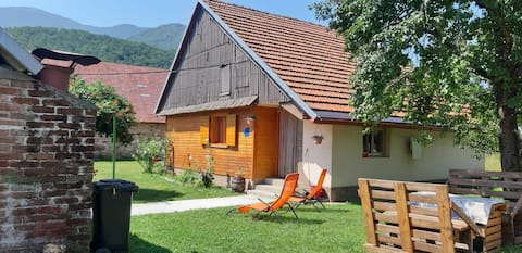 Lovely house under mountain Velebit