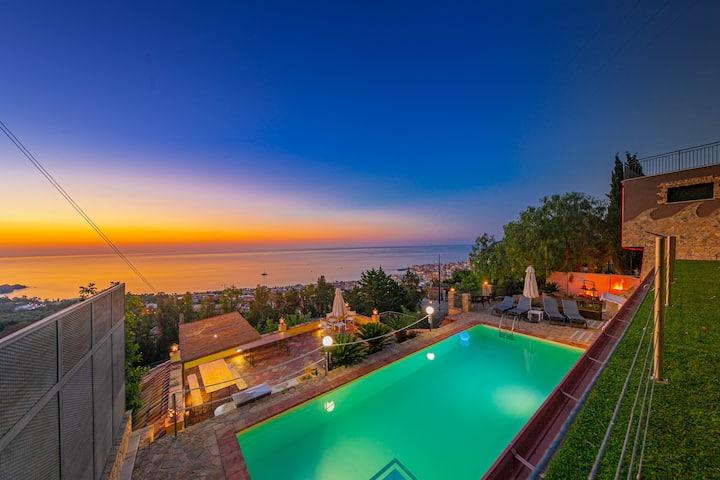 Cefalu Villa con piscina e panorama