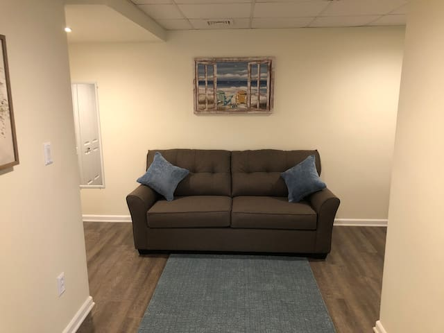 Sofa in the second bedroom.