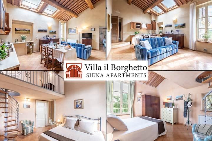 """Apartment in historic Villa in Siena_""""FORIPORTA"""""""