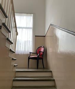 Bright stairwell