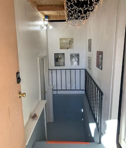 """Entrance to apartment is down 4 steps but is at least 48"""" wide"""