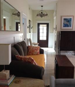 Open living and kitchen floor plan.