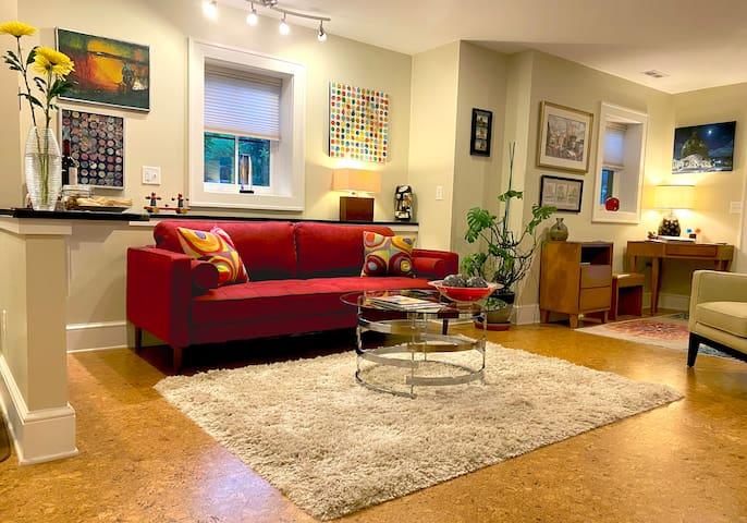 Living Room at 47 Short