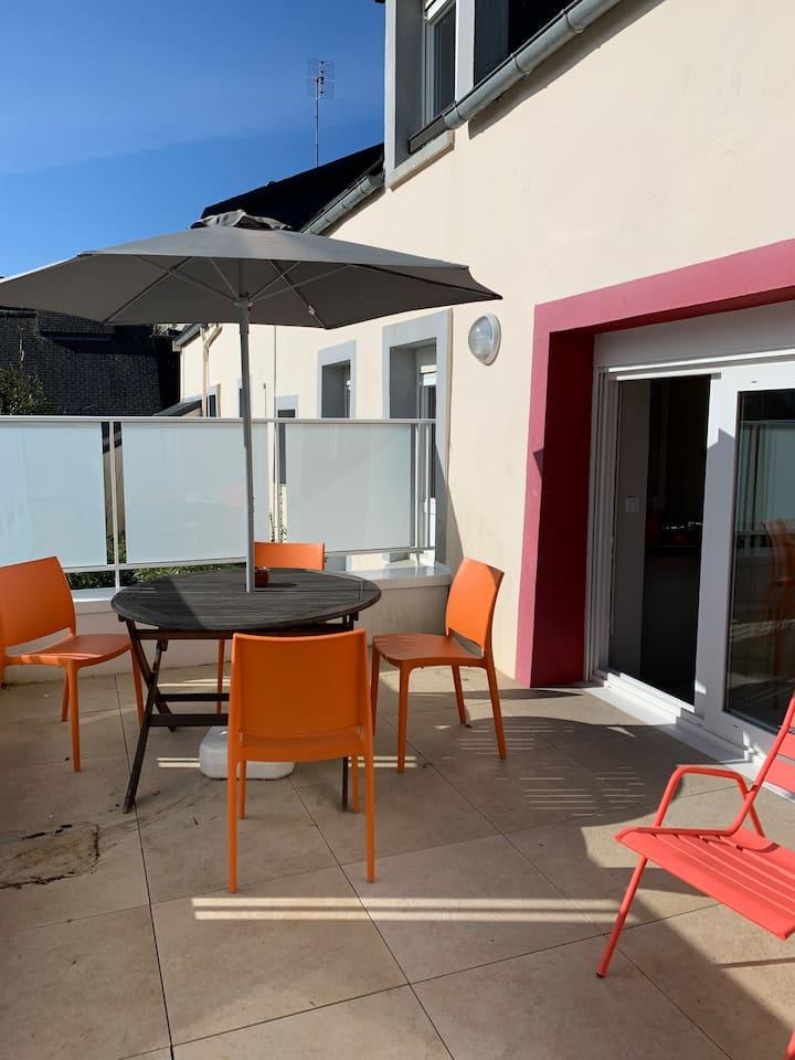 "Appartement Terrasse : ""Fontaine Mandarine"" Morgat"