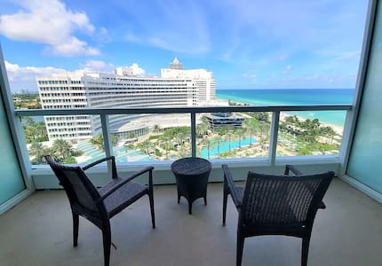 FountaineBleau Resort, Balcony w/Ocean & Pool View