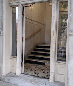 Building front doorway entrance
