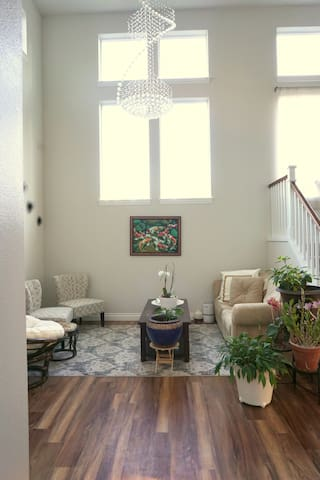 Living room, where guests can entertain themselves. As this is the common area part of the house