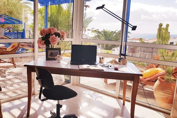 CASA MARAVILLA DEL MAR - home office with sea view
