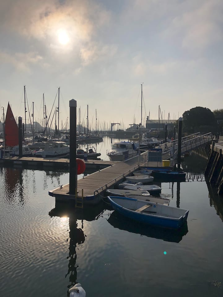 Island View Loft in the heart of the Lymington