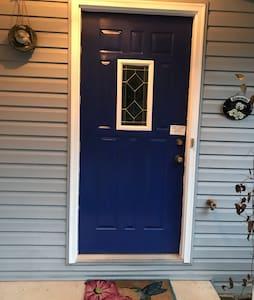 """The front door is 35""""."""