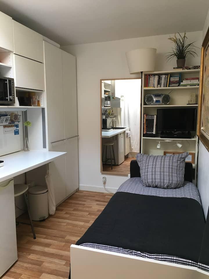 Quiet Studio at Paris-Bastille en bail mobilité