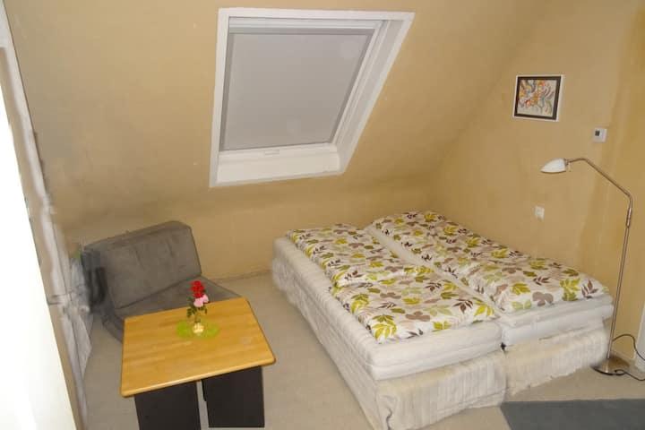 ruhiges Zimmer mit eigener Küche,  Balkon, Natur