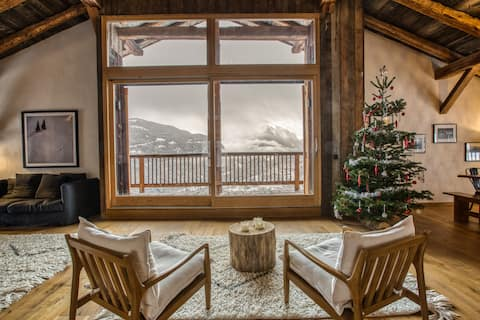 Luxueux appartement vue Mont Blanc