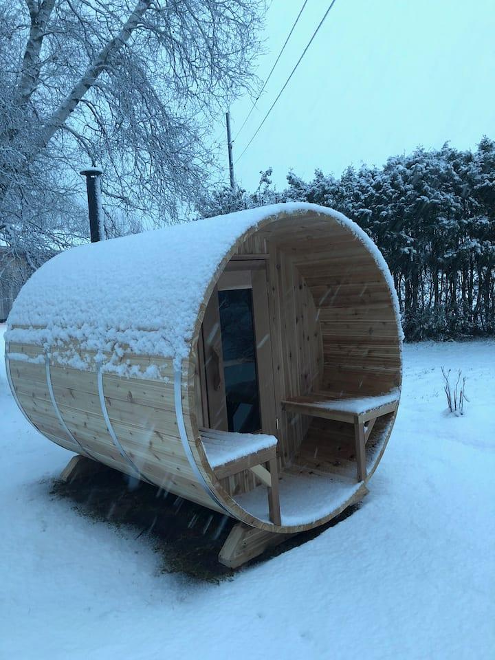 Sous des milliers d'étoile(accès au sauna/sentier)
