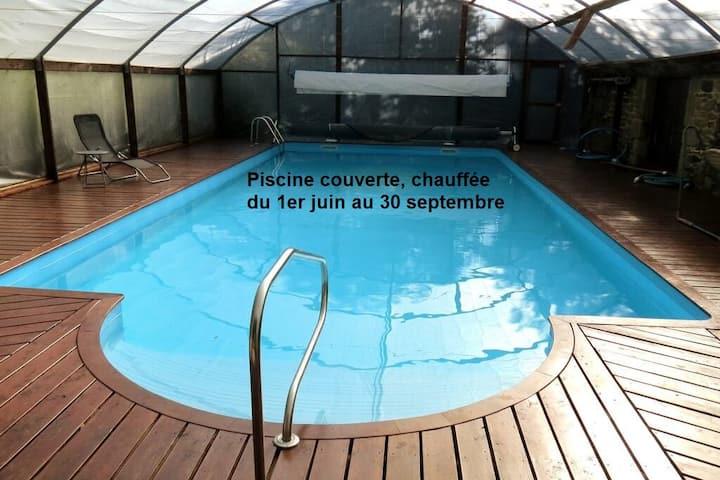Gîte au cœur de la Bretagne avec piscine