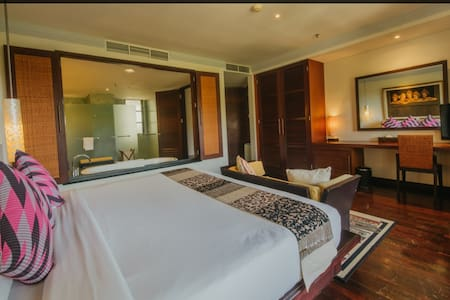 Master bed room has private bathroom. The floor is flat and all doors has 36 inches wide