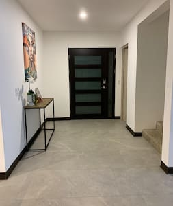 42 inch entrance door with ample space in the hallway