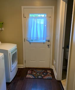 Back door, laundry and bathroom entrance