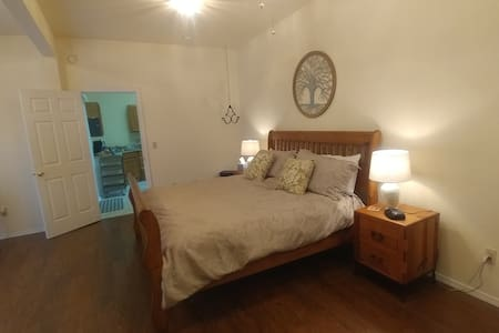 Easy flat entrance from Living Room / Kitchen area into the Master suite.