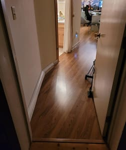 Access to wide entrance bathroom and bed