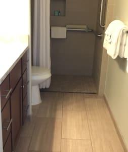 Walk in shower  Wheelchair shower