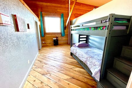 Entire loft is one level and does not have any steps to enter/exit the bedrooms, bathroom, dining room, laundry room.