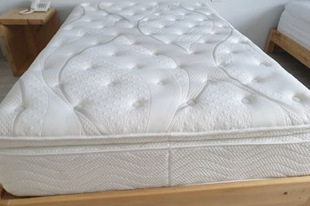 we are using 12 inches high end premium touch uratex bed and cannadian beddings.