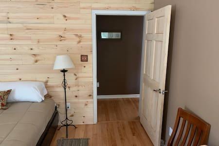 """36"""" entrance door to bedroom."""