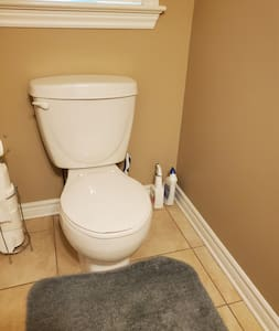Extra space around toilet