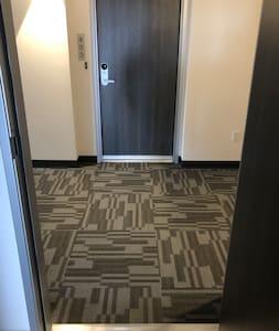 Entrance to unit