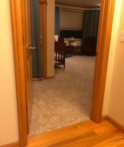 Entryway into master bedroom