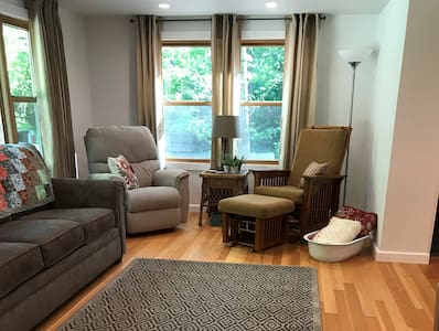 There are no steps or stairs to the front TV room. All open concept.