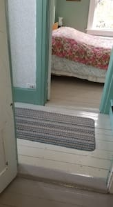 The width of the two doors to the bedroom is 31 inches.