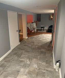 Wide walk way, room for wheelchair if needed or extra bed to be placed in the area room.
