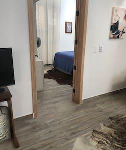 No steps into main bedroom