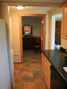 """Wide hallway to entrance to bedroom .  Doorway 36"""" wide"""