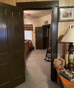 Master bedroom doorway.