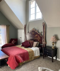 Huge space in upstairs bedroom but you must get up the stairs to 2nd floor