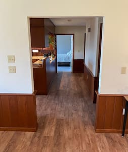 Wide hallways and no steps to bedroom