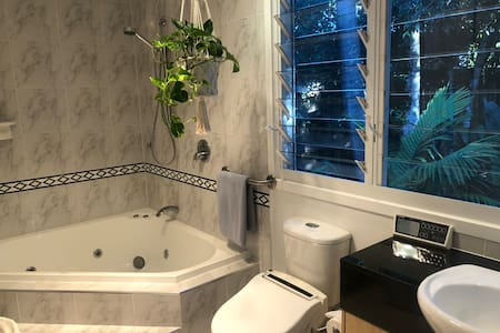 Lovely spacious bathroom with spa and bidet With room to move