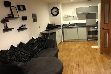 Living room and kitchen open plan no door separation