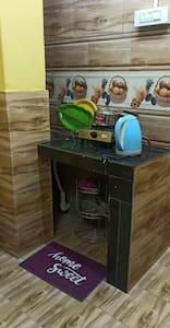 No steps to reach the  Mini kitchen of Double Bedroom SAITPATRI