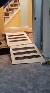 Ramps available to aid in access throughout the first floor
