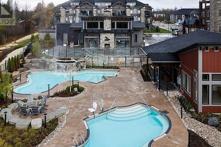 Accessible recreation facilities with chair lift to pool.