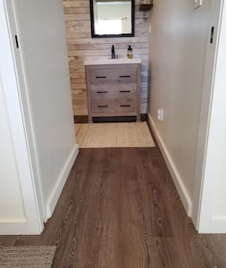 entrance to bathroom is 34 inches wide