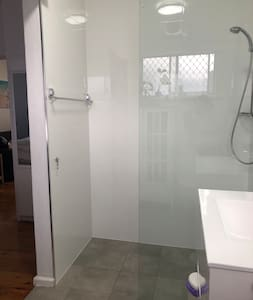 Entrance to shower is approximately 60 cm wide