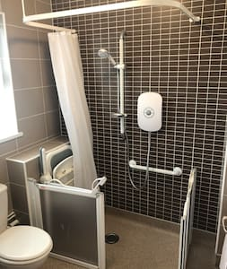 Dusch utan trappsteg